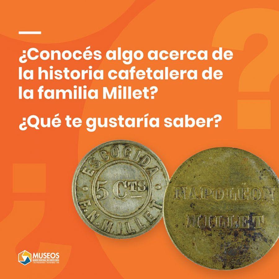 Boletos de café de la familia Millet. Numismática