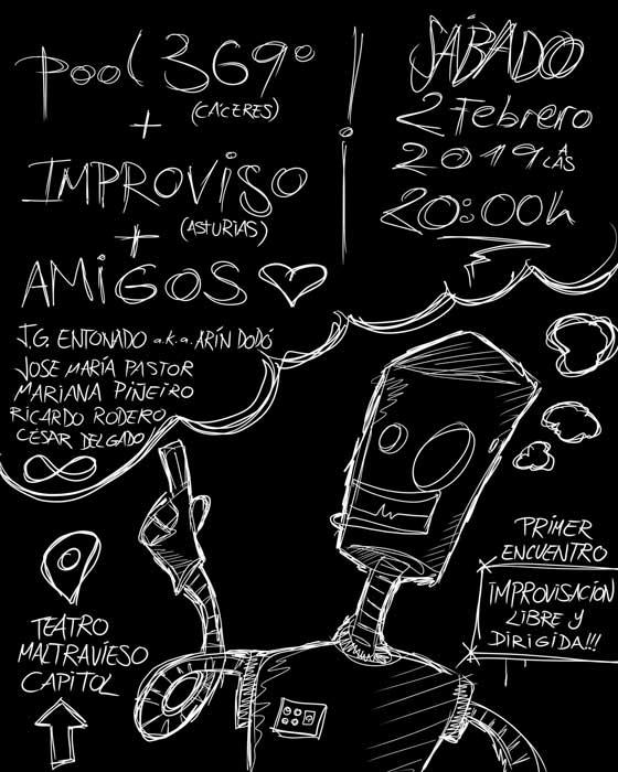 1er Encuentro Improvisación Libre. POOL 369º, Improviso y Amigos