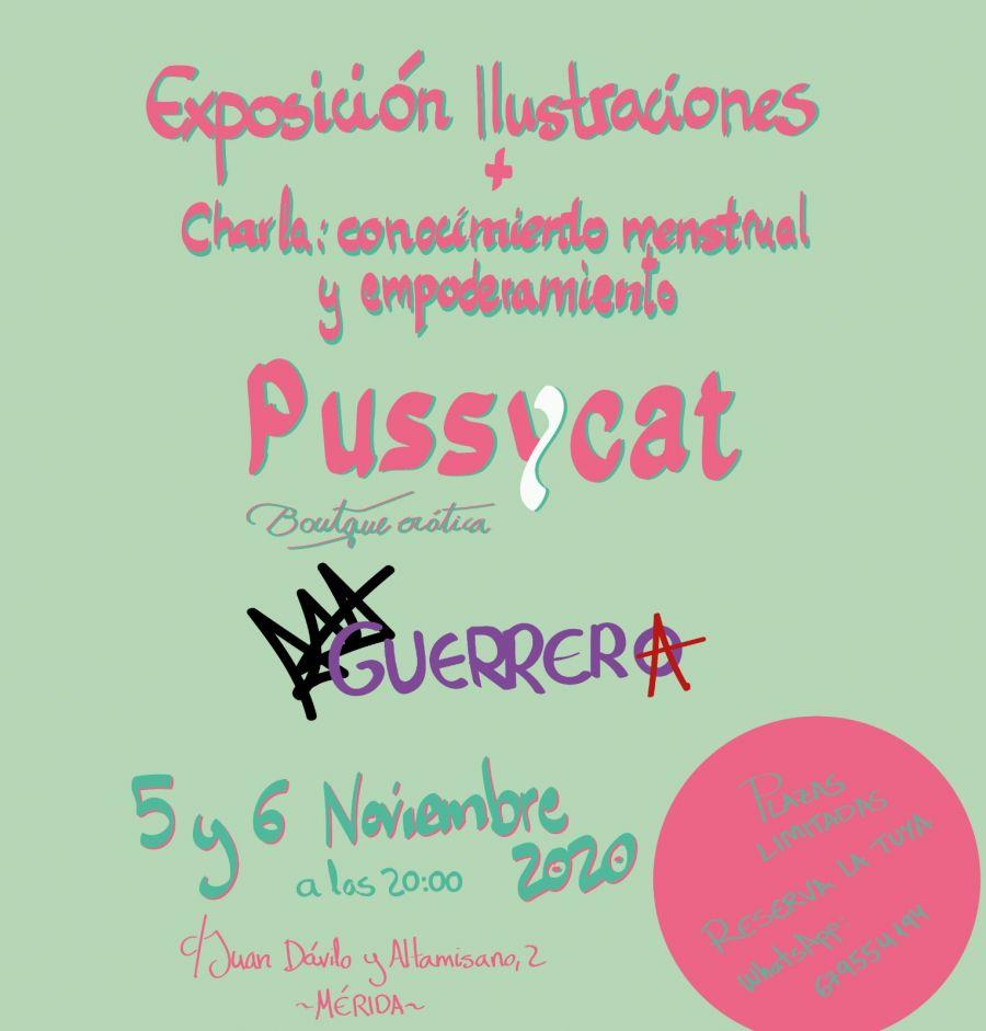 Exposición ilustraciones Alba Guerrera + Chala Conocimiento Menstrual