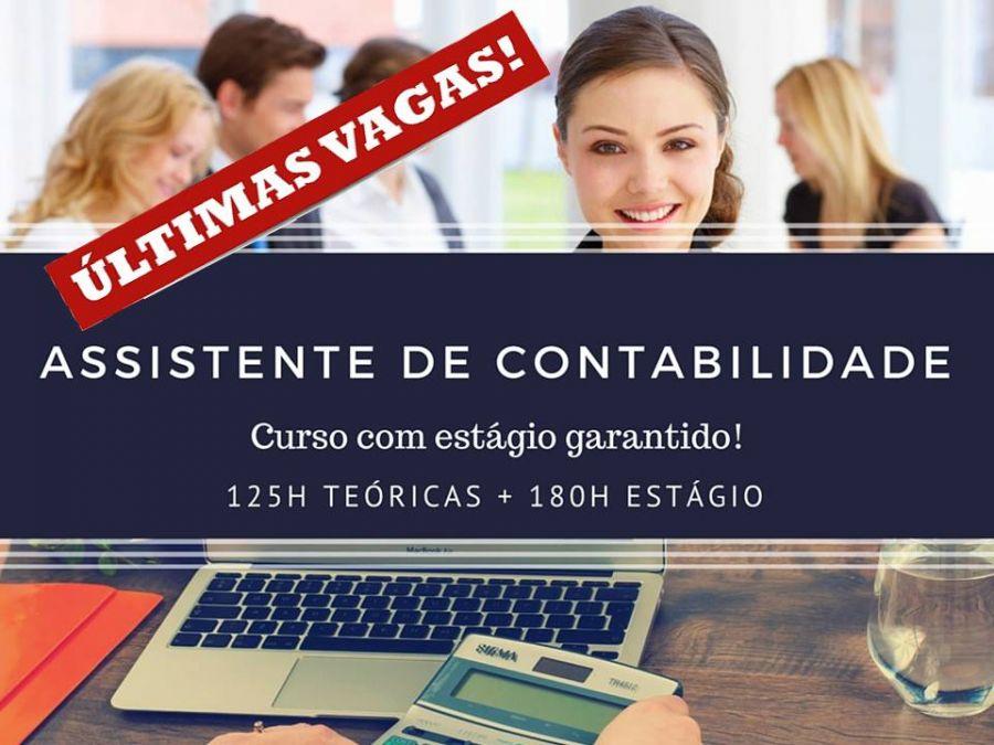 CURSOS COM ESTÁGIO FINAL  Curso de Assistente de Contabilidade