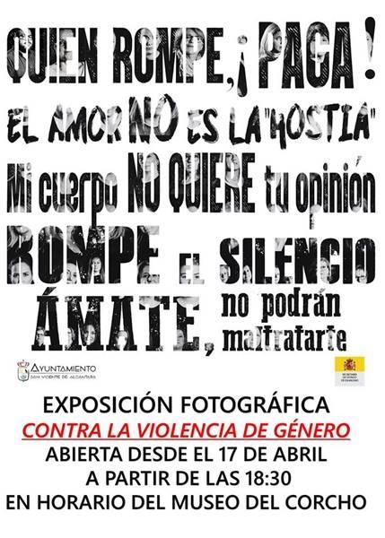 Exposición Fotográfica Contra la Violencia de Género | San Vicente de Alcántara