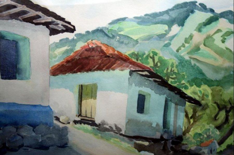 Casonas viejas. Colección de la CCSS. Pintura