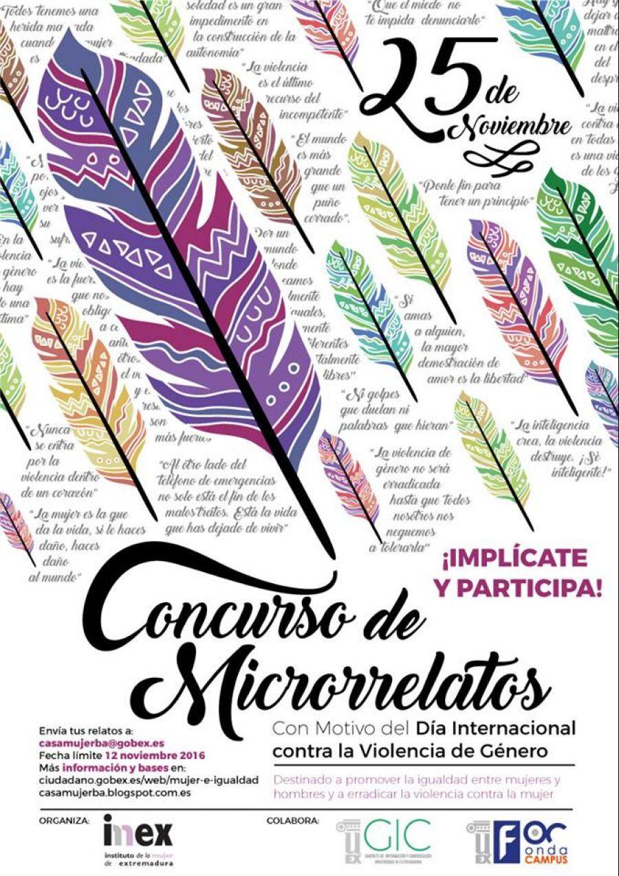 Concurso de microrrelatos - Día Internacional contra la Violencia de Género