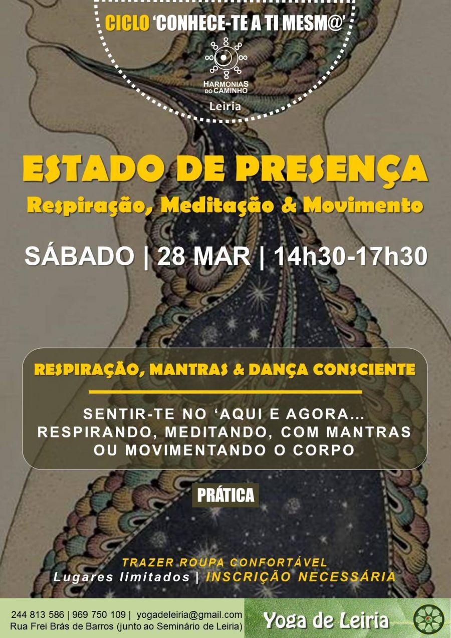 Workshop (Leiria) –Estado de Presença –Ciclo Conhece-Te A Ti Mesm@