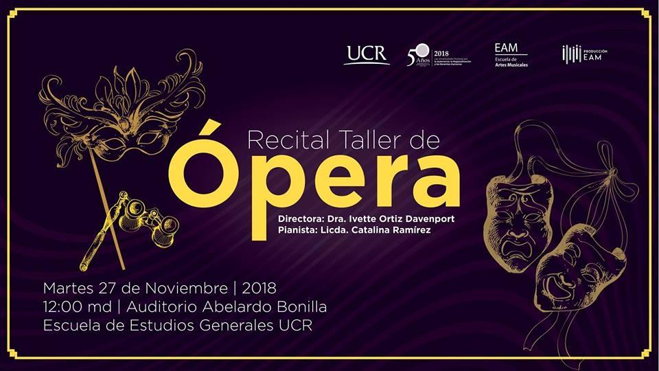 Recital. Taller de ópera de la EAM de la UCR