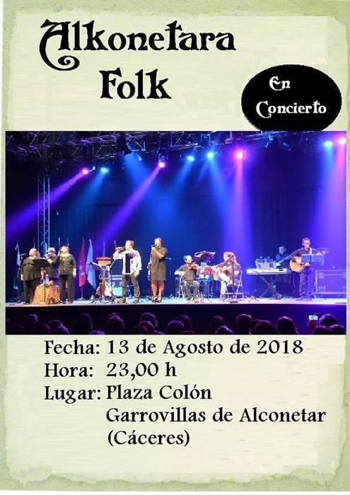 Alkonétara Folk en concierto || Garrovillas de Alconétar