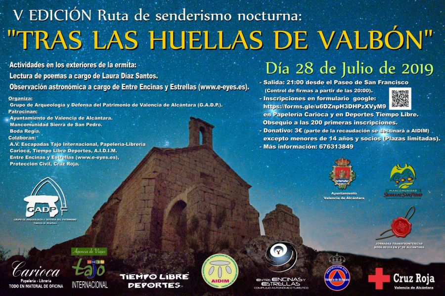 V Edición: Ruta senderismo nocturna 'Tras Las Huellas De Valbón'