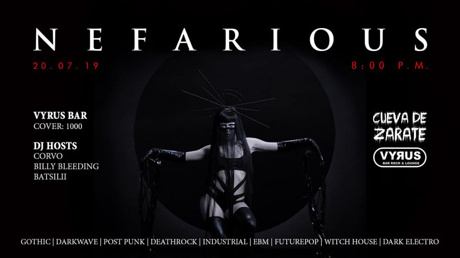 Nefarious. Corvo, Billy Bleeding & Batsilii. Darkwave