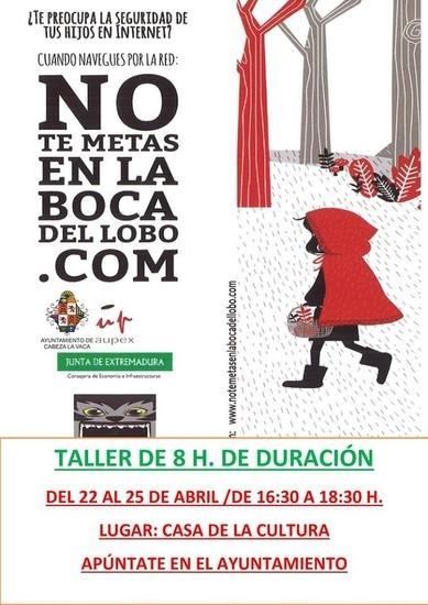 TALLER SOBRE INTERNET PARA PADRES Y MADRES EN CABEZA LA VACA
