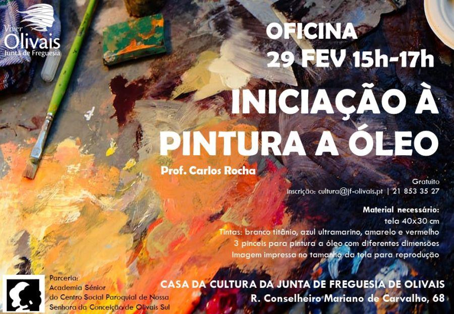 Oficina de Iniciação à pintura a óleo
