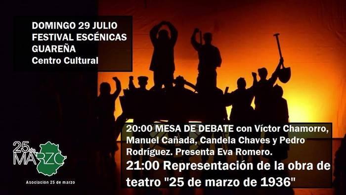 Obra de teatro '25 de marzo de 1936' en Guareña