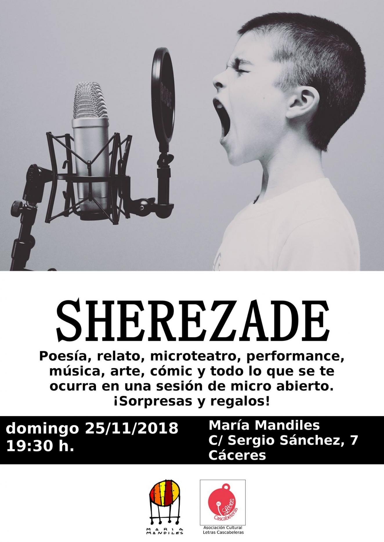Sherezade. Micro abierto