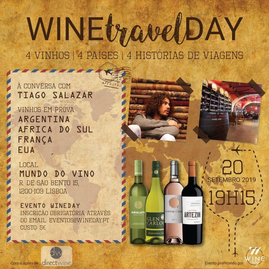 WINEtravelDAY - 4 vinhos | 4 países | 4 histórias de viagens