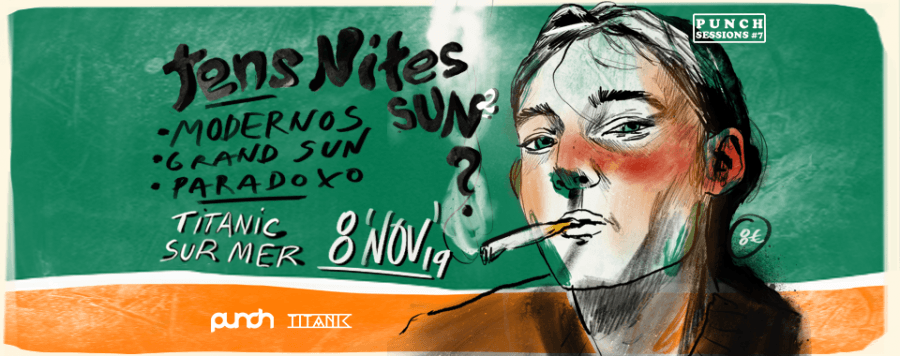 Punch Session#7: Tens Nites Sun? #2: Modernos / Grand Sun / Paradoxo