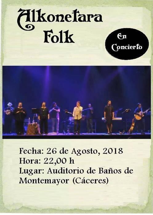 Alkonétara Folk en concierto || Baños de Montemayor