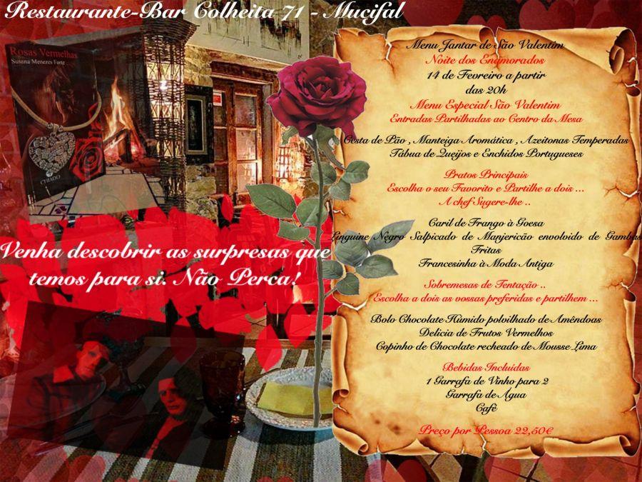 Dia dos Namorados - Jantar /Menu de São Valentim