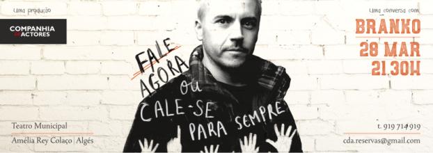 Branko em 'Fale Agora ou Cale-se para Sempre' - Produção CDA
