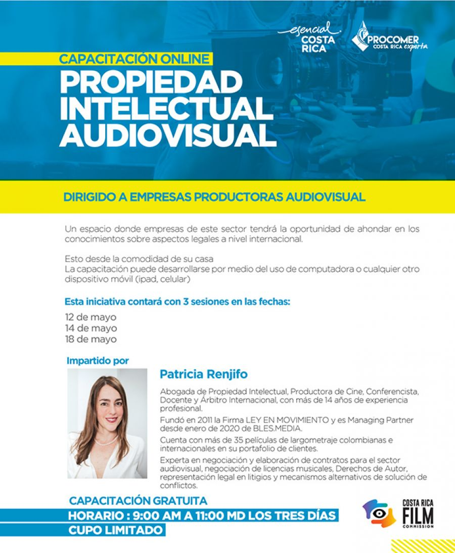 Propiedad Intelectual Audiovisual. Comisión Fílmica de Costa Rica