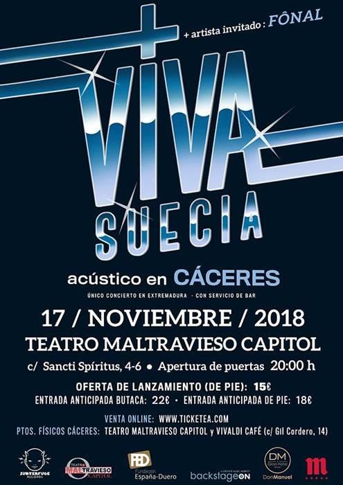 VIVA SUECIA en Cáceres || Teatro Maltravieso Capitol