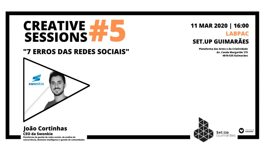 #5 Creative session - '7 erros das redes sociais'