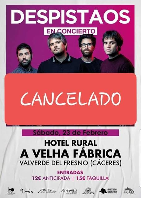 CANCELADO || Concierto: Despistaos || Valverde del Fresno