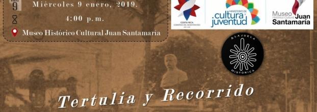 Tertulia y recorrido en conmemoración a León Fernández Bonilla. Historia