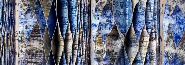 Odes: corte e pintura sobre livros: exposição | Arlindo Abreu