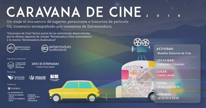 Muestra Nocturna de Cine en Cañamero || Caravana de Cine