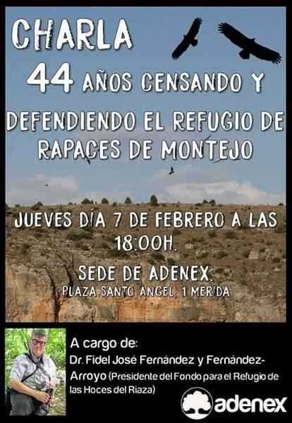 Charla «44 años censando y defendiendo el refugio de rapaces de Montejo»