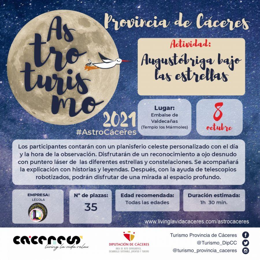 Astro Cáceres 2021   Augustóbriga bajo las estrellas. El imperio de las estrellas