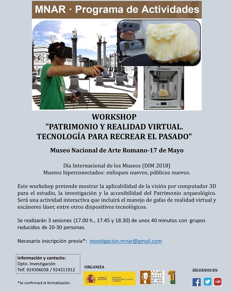 Taller 'Patrimonio y realidad virtual. Tecnología para recrear el pasado.'