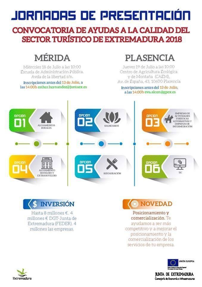 Jornadas de presentación de las ayudas a la calidad del sector turístico de Extremadura