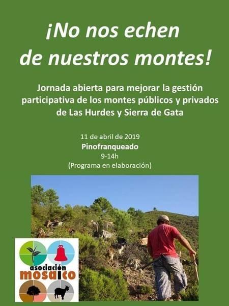Jornada abierta para mejorar la gestión participativa de los montes públicos y privados de las Hurdes y Sierra de Gata