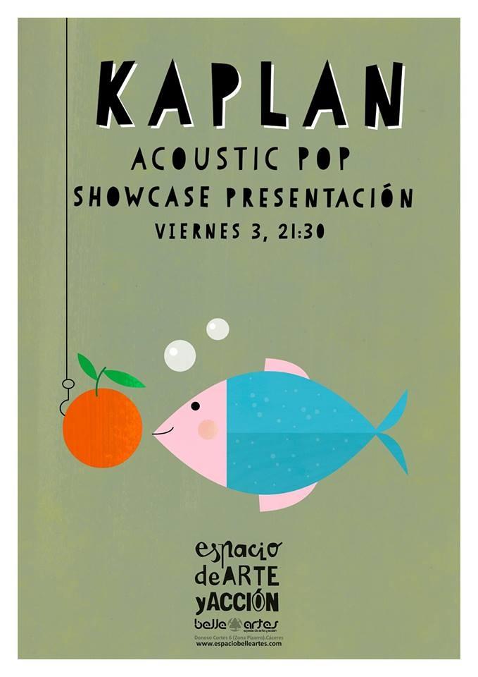 Showcase Kaplan (pop acústico)    Espacio Belleartes