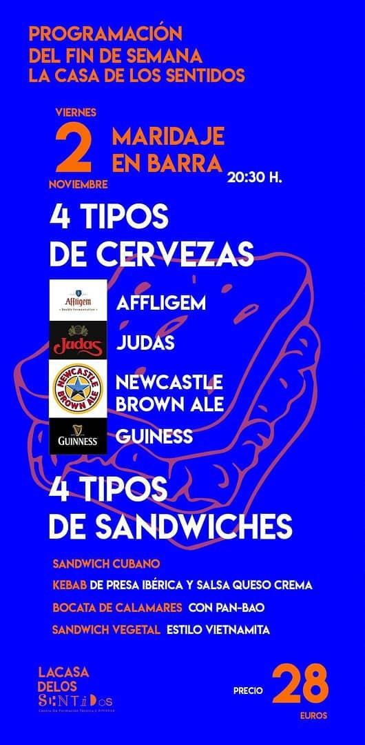 Cata de cerveza y sándwiches originales