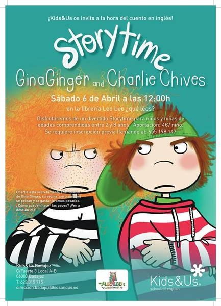 Storytime: Gina Ginger and Charlie Chives