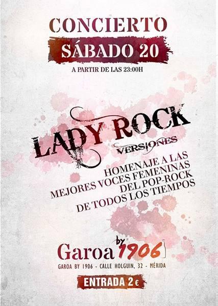 Concierto de versiones: LADY ROCK | Garoa Copas
