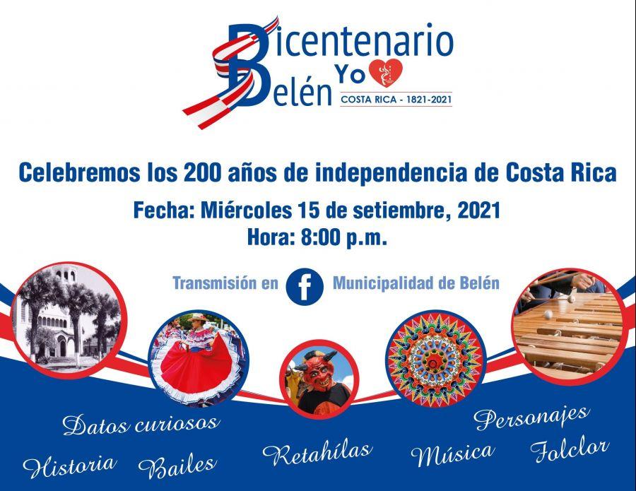 Belén celebra 200 años de independencia de Costa Rica