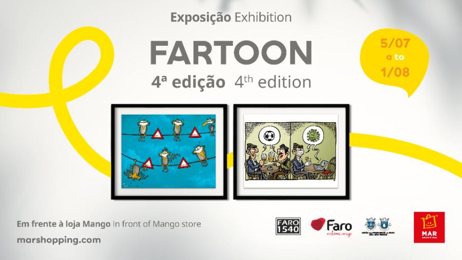 Nova edição do FARTOON chega ao MAR Shopping Algarve com os melhores cartoons sobre a pandemia