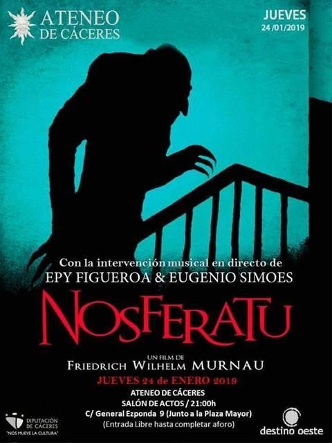 Proyección de Nosferatu - Intervención musical en directo || Ateneo de Cáceres