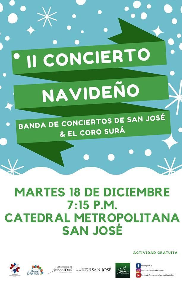 II concierto navideño. Banda de Conciertos de San José & Coro Surá
