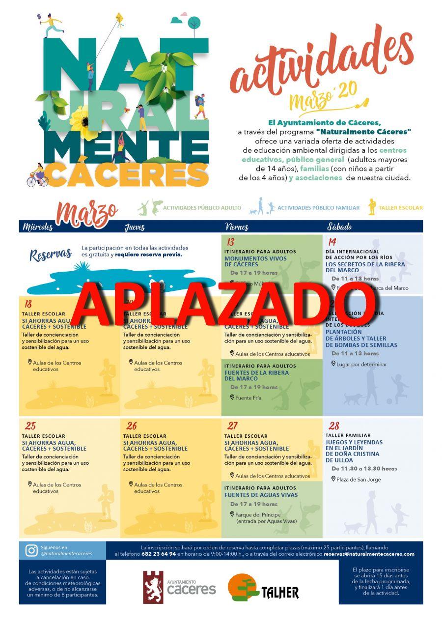 APLAZADO - Actividades Naturalmente Cáceres