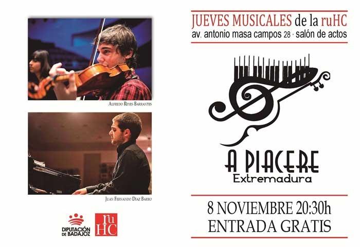JUEVES MUSICALES | Concierto violín piano