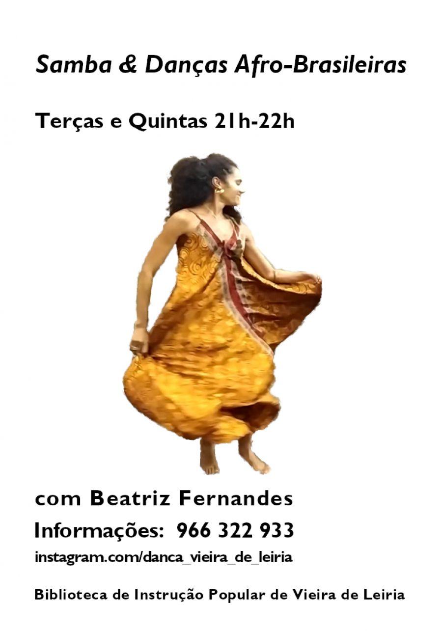Aulas de Samba e & Danças Afro-Brasileiras com Beatriz Fernandes