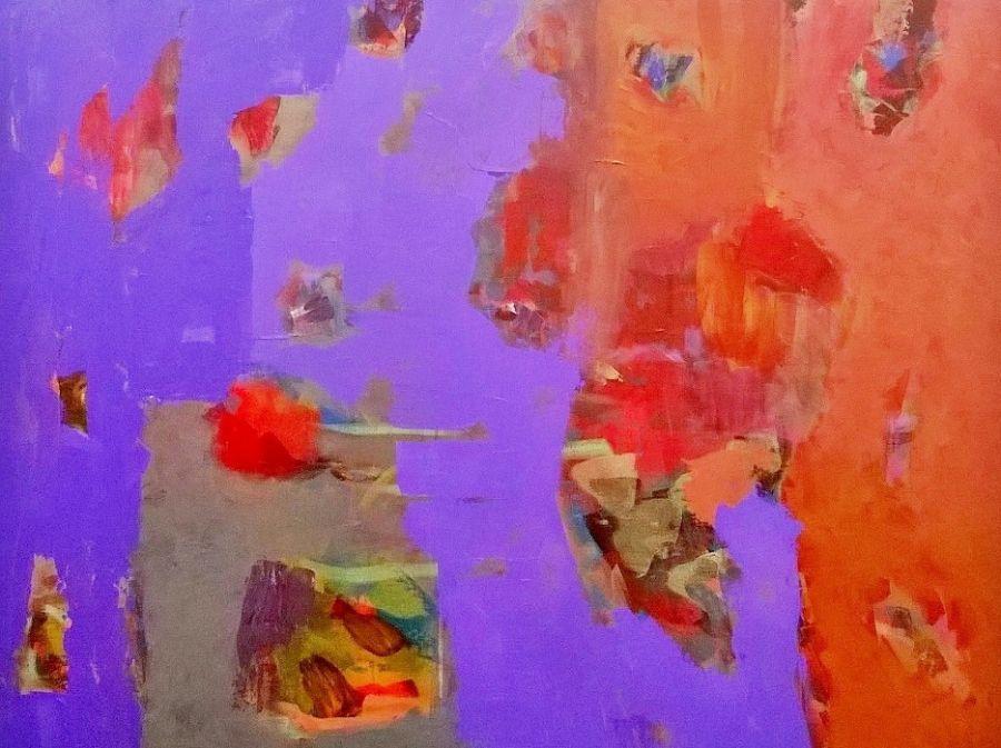 sem título, da série 'casa na água', 2016   acrilico s/tela   100x120 cm