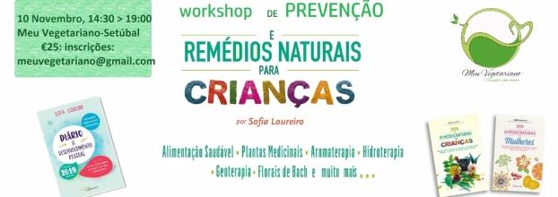 Workshop Remédios Naturais Crianças - Setúbal