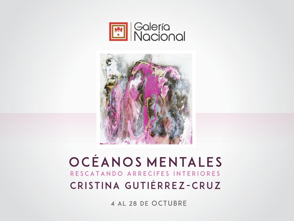 Inauguración. Océanos mentales. Cristina Gutiérrez. Pintura