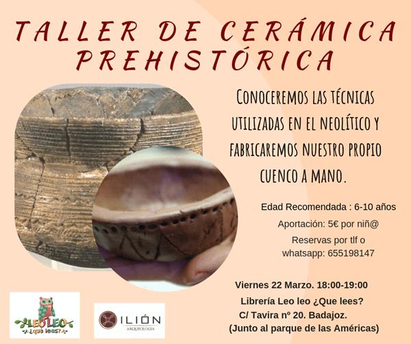 TALLER DE CERÁMICA PREHISTÓRICA