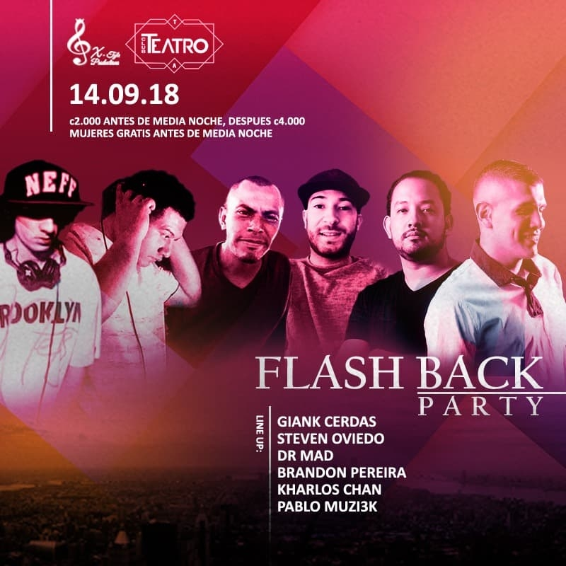 Flash back party. X-Tyle. House Dj set