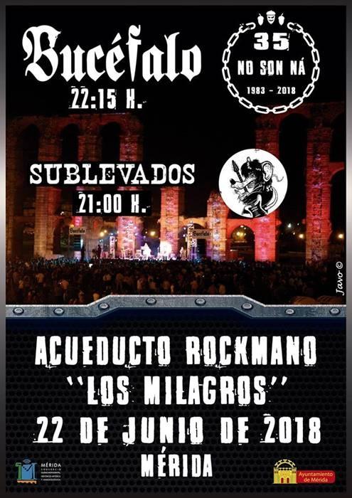 Concierto de Bucéfalo + Sublevados || Acueducto de los Milagros (Mérida)